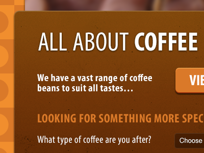 Redesign of an existing Coffee e-commerce site