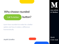 New Article - Why choose rounded CTA button?