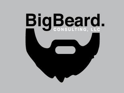 Big beard Consulting beard consulting tech programming logo