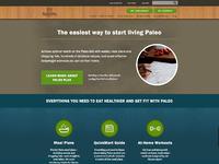 Paleo plan home landing page