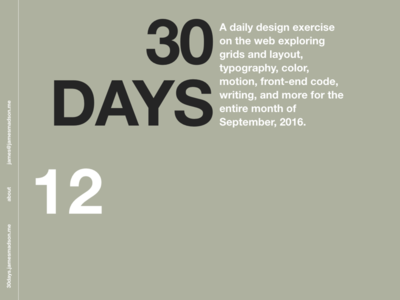 30days – Web Design Exercise minimal helvetica responsive web typography grid html css 30days
