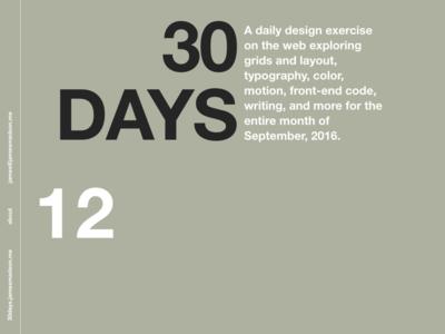 30days – Web Design Exercise