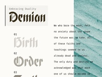 Demian – Type & style exploration