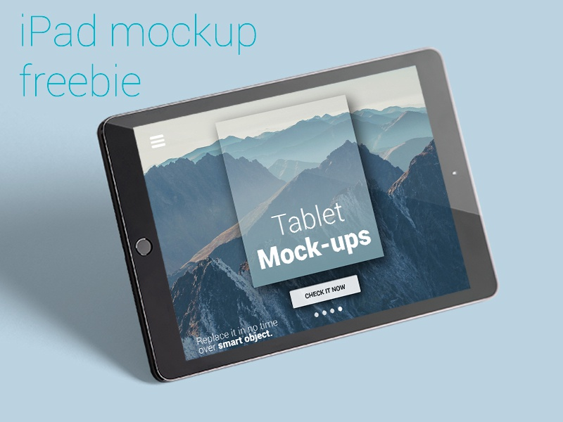 [Freebie] iPad photo mockup free mockup ipad freebie template photo template photo mockup mock-up device iphone apple