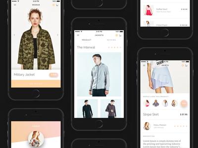 Dribbble Modda 2 ux ui store shop modern minimalistic fashion e-commerce clean