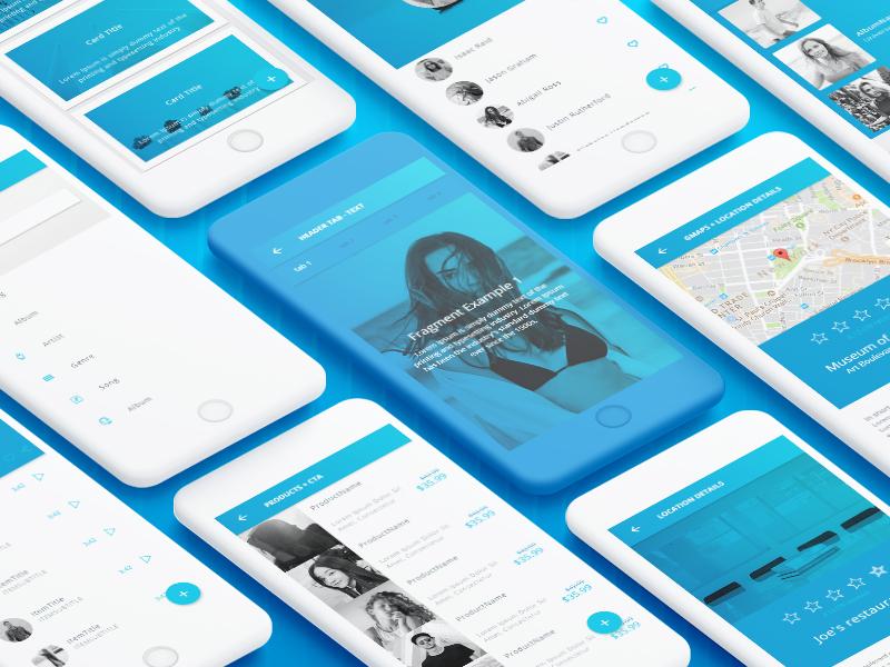 Ionic 3 Blue Light Theme - 45+ screens by Creative Studio