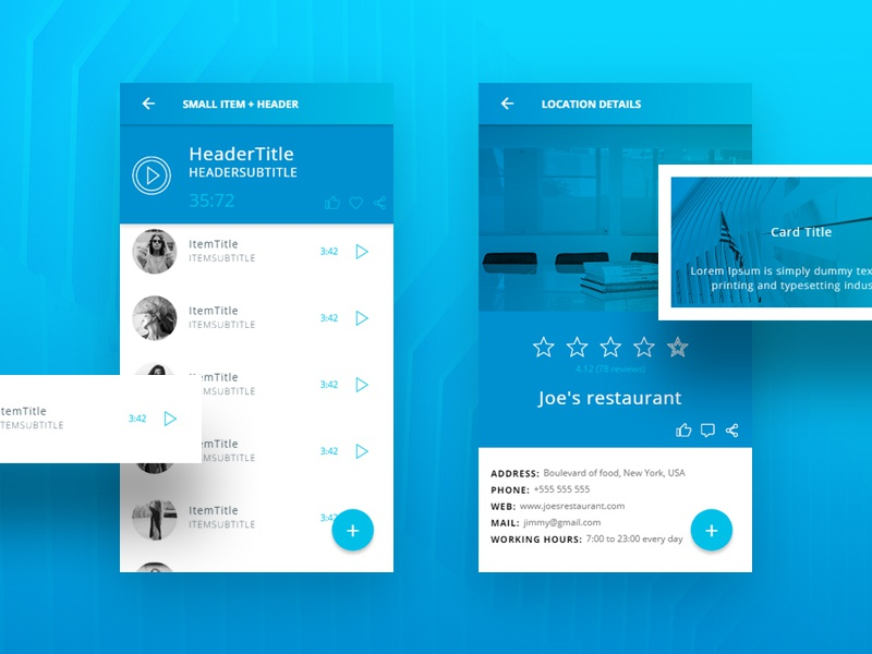 Ionic 3 Blue Light Theme - 45+ screens by Creative Studio Form on