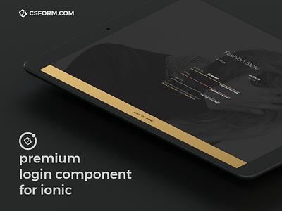 Premium Login Component for Ionic 3 component ipad pro iphone x iphone ipad ios forgot password sign register login ionic