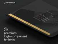 Premium Login Component for Ionic 3