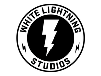 White Lightning Sticker
