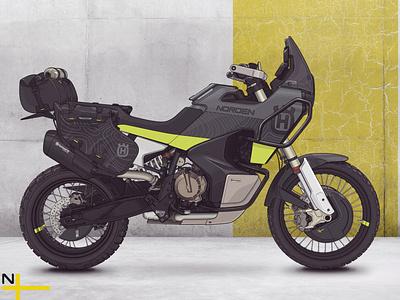 Husqvarna Norden 901 - Illustration offroad bike norden 901 norden husqvarna illustration linework motorcycle