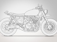 Daryl's Bike 1992 Honda Cb750 Nighthawk by Kzsolt | Dribbble | Dribbble