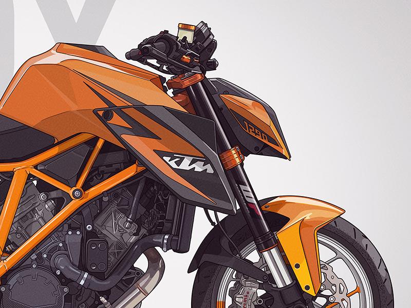 Ktm 1290 Super Duke R  photoshop bike motorcycle illustration superduke ktm1290 ktm