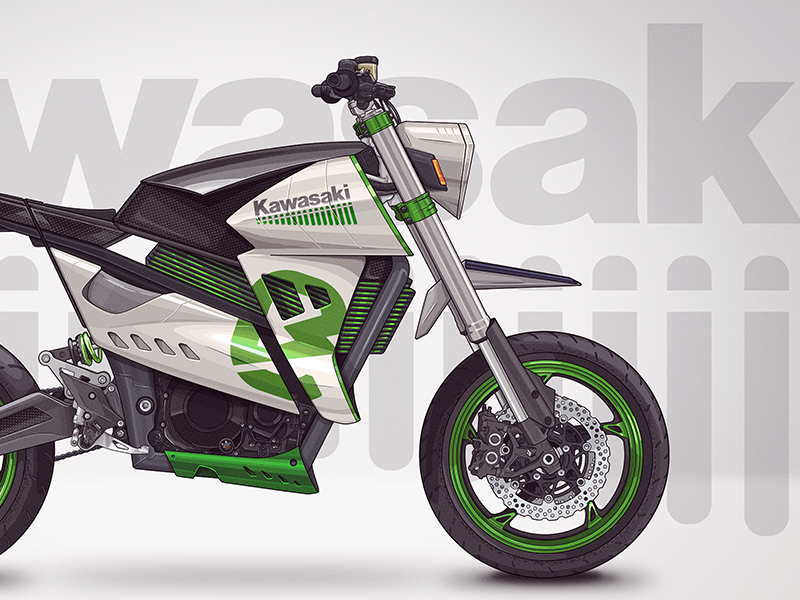 Kawasaki - E Horizon electric motorcycle concept linework photoshop interface design interface ui concept electric motorcycle motorcycle kawasaki electric