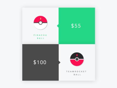 Pokeballs flat design illustration ui design pokemon pokeballs