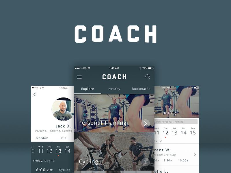 Coach portfolio showcase dribbble