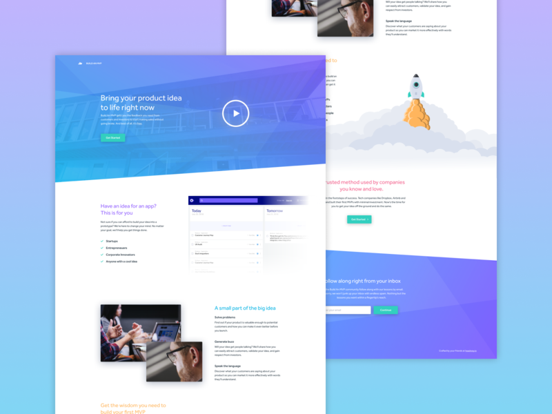 Microsite Concept - Build An MVP ui ux design website mvp microsite