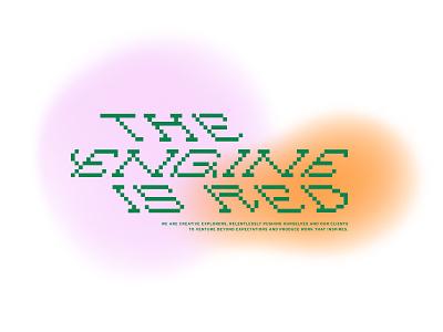 EIR - Pixeled pixelated pixel type lettering branding graphic design