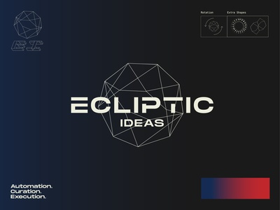 Quick glance branding for Ecliptic Ideas