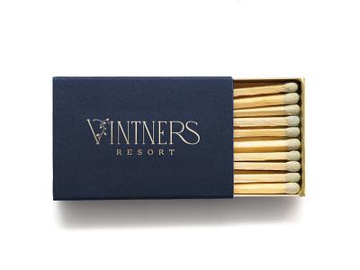 Vintners Resort Matchbox wine country resort vintner sonoma matchbox branding design