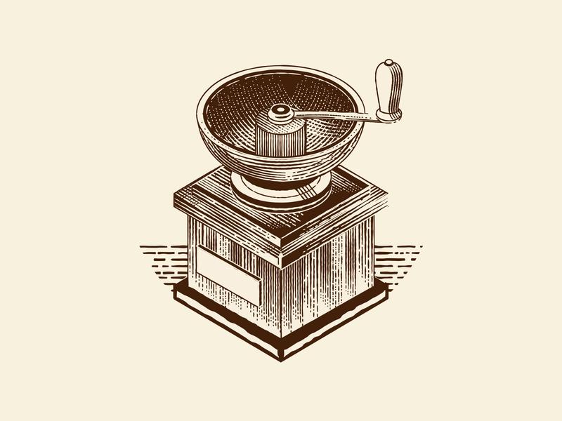 Retro Manual Coffee Grinder design branding microstock graphic vector graphic logo vector retro illustration vintage