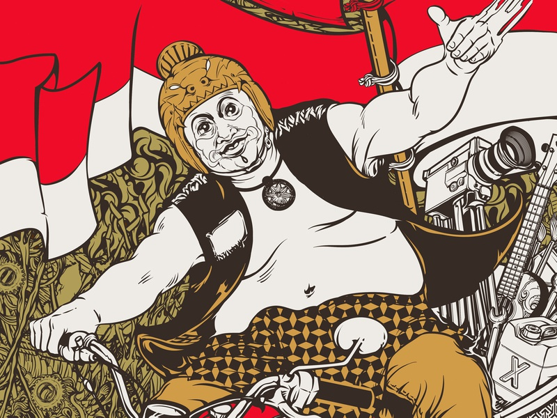Bagong Gugur Gunung design apparel propaganda movement vector graphic retro vector vintage illustration t-shirt