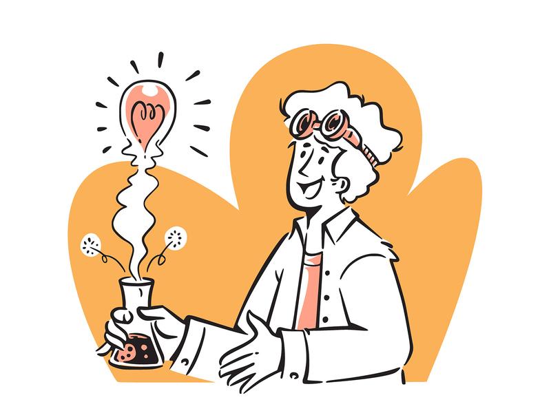 Line Art Start-Up Doodles Illustrations doodle startup design lineart microstock vector retro illustration