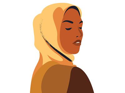 8 Vector Hijabi Woman Portraits islamic islam hijab hijabi design graphic vector graphic vector retro illustration
