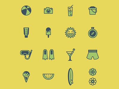 Stories Shot Block Summer Icons Dribbble