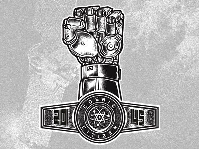 Robo Fist AE apparel vector art vector graphic vintage retro fist grain