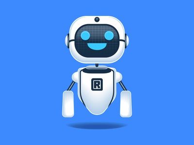 Modern Artificial Intelligence Robot Icon vector microstock android illustration cheerful artificial intelligence robot