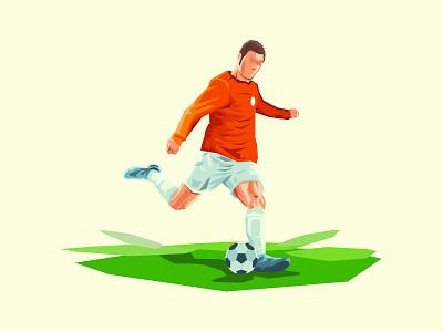 Creative Classical Soccer Poster kick ball sport illustration vector worldcup footbal soccer