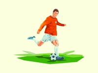 Creative Classical Soccer Poster