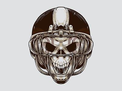 Vintage American Football Skull Illustration skull logo vector graphic vector retro illustration vintage evil design demon dangerous competition college brand background art apparels american football american