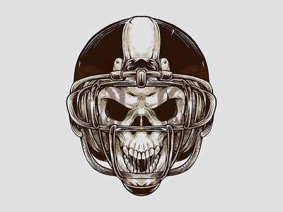 Vintage American Football Skull Illustration skull logo vector graphic vector retro illustration vintage evil design demon dangerous competition college brand background art apparels american football american