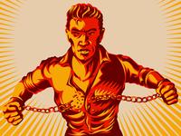 Broken Handcuff Freedom Concept