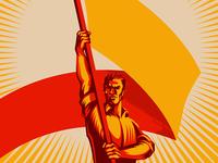 Revolution Raising The Flag