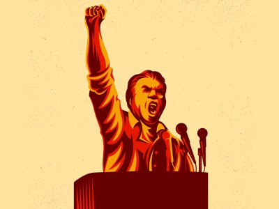 Revolution Public Statement movement statement revolution pro bono vintage illustration politics orator speak protest propaganda