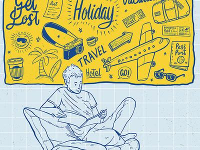 Doodles Travel Illustration