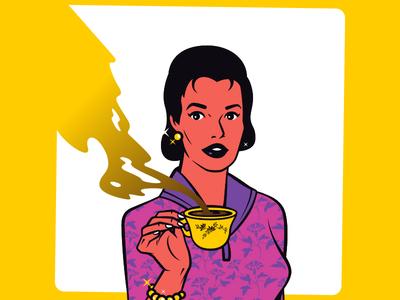 Retro Coffee Lady