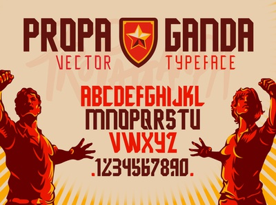 Propaganda Display Font Design