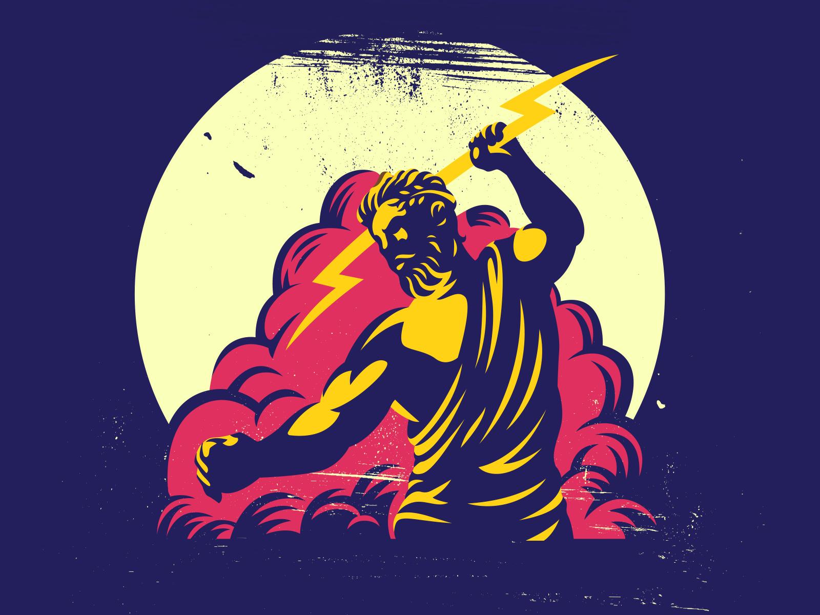 Zeus Hold Lightning Bolt Logo By Rahmad Kurniawan On Dribbble
