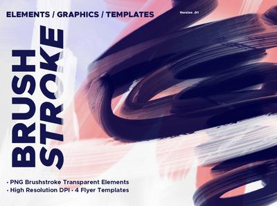 Brushstroke Graphic Element Template
