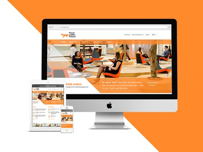 Responsive webdesign law firm orange clean redesign webdesign responsive