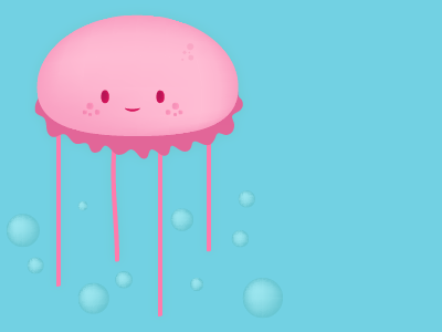 Jellyfish jellyfish sea character illustration cute