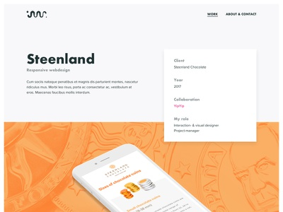 Portfolio case header ui minimal design personal responsive webdesign case portfolio