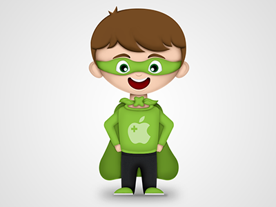 Mascot character mascot hero apple coach illustration