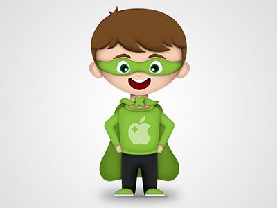 Mascot character mascot hero apple coach illustration