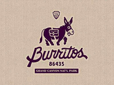 Burritos — Grand Canyon National Park illustration design grand canyon national park sports logos mule branding logo baseball