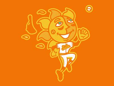 Suns — Haleakalā National Park sunshine sun logo sports logo logo illustration sunsets sunrise national parks national park design baseball branding